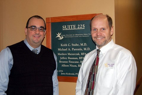 Orthopaedic surgeons, Dr. Keith Stube and Dr. Michael Parentis